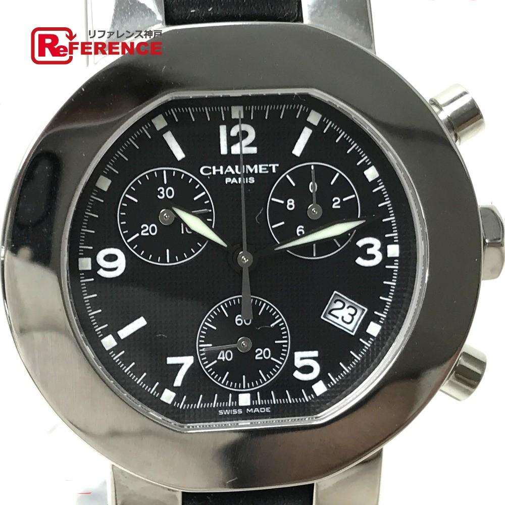 Chaumet ショーメ W03210-025 メンズ腕時計 スタイル(ダンディ) 腕時計 SS×革ベルト ブラック メンズ 未使用【中古】