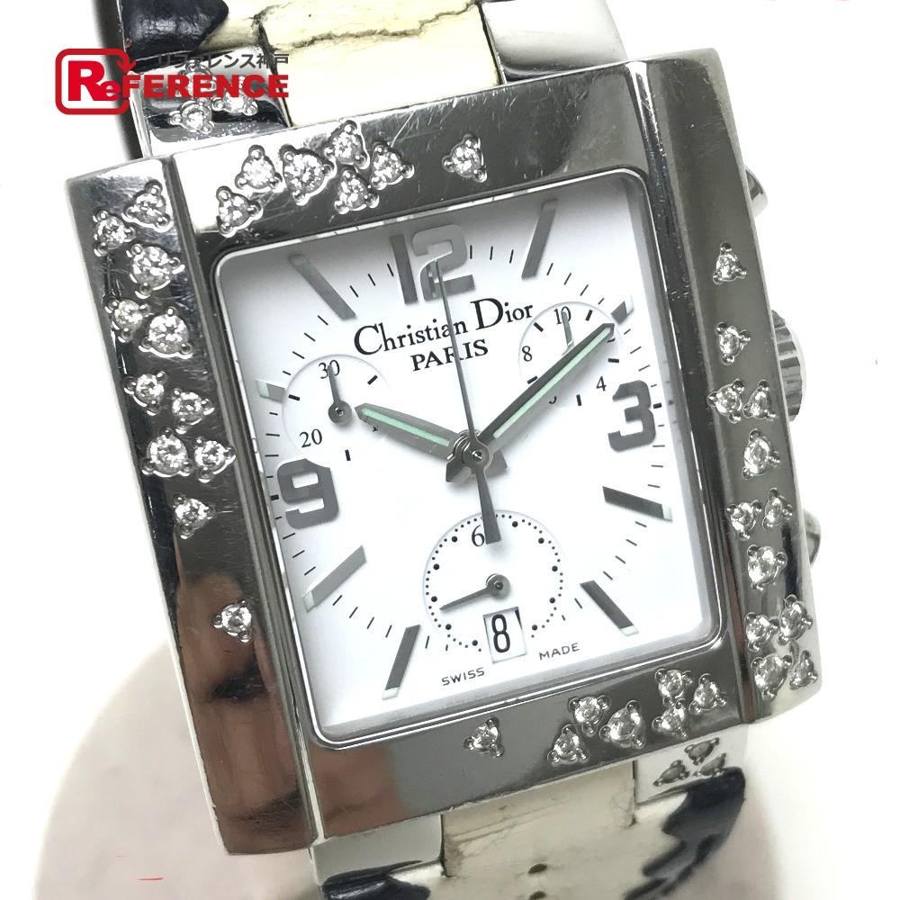 Christian Dior クリスチャンディオール D81-101 レディース腕時計 リヴァクロノスパークリング 腕時計 SS×革ベルト シルバー レディース【中古】