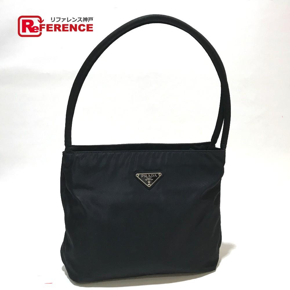 ab230939e6 BRANDSHOP REFERENCE  PRADA Prada B6243 handbag logo plate tote bag nylon  black Lady s