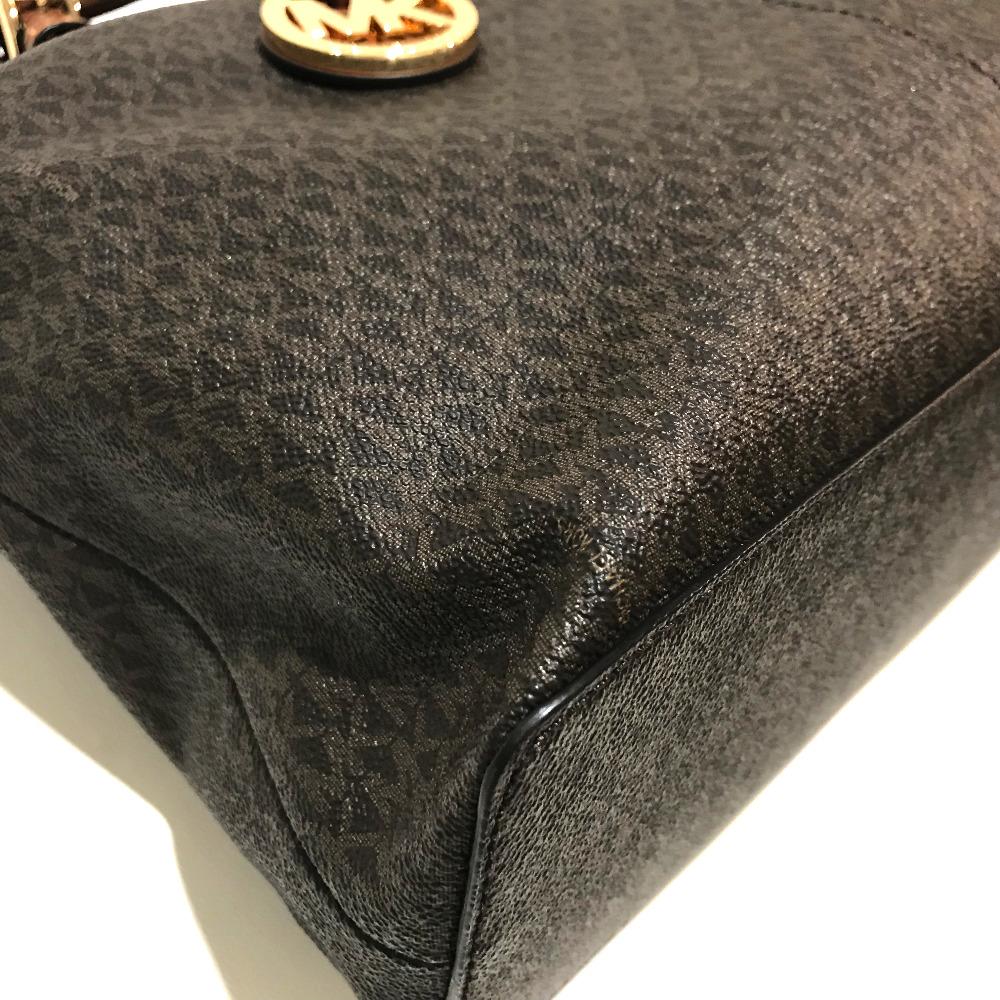 5f29dfb4a060 Michael Kors Michael Kors shoulder bag logos trap monogram tote bag PVC X  leather brown Lady s