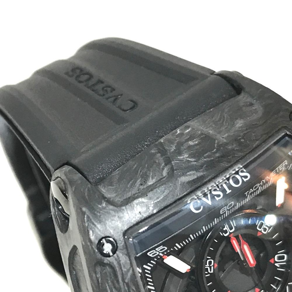 8ca3c1d7d5 2019年新作 CVSTOS クストス CVT-CHR2 FGDC メンズ腕時計 チャレンジ クロノ 3カウンター 腕時計 カーボン/ラバーベルト  ブラック メンズ 未使用【中古】 激安の