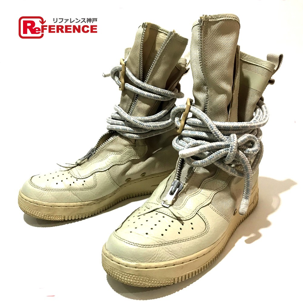 best service 06877 c4f11 AUTHENTIC NIKE Air Force 1 NIKE Special Field AIR FORCE 1 HI RATTAN High  rattan boots sneakers Beige Leather AA-1128-200