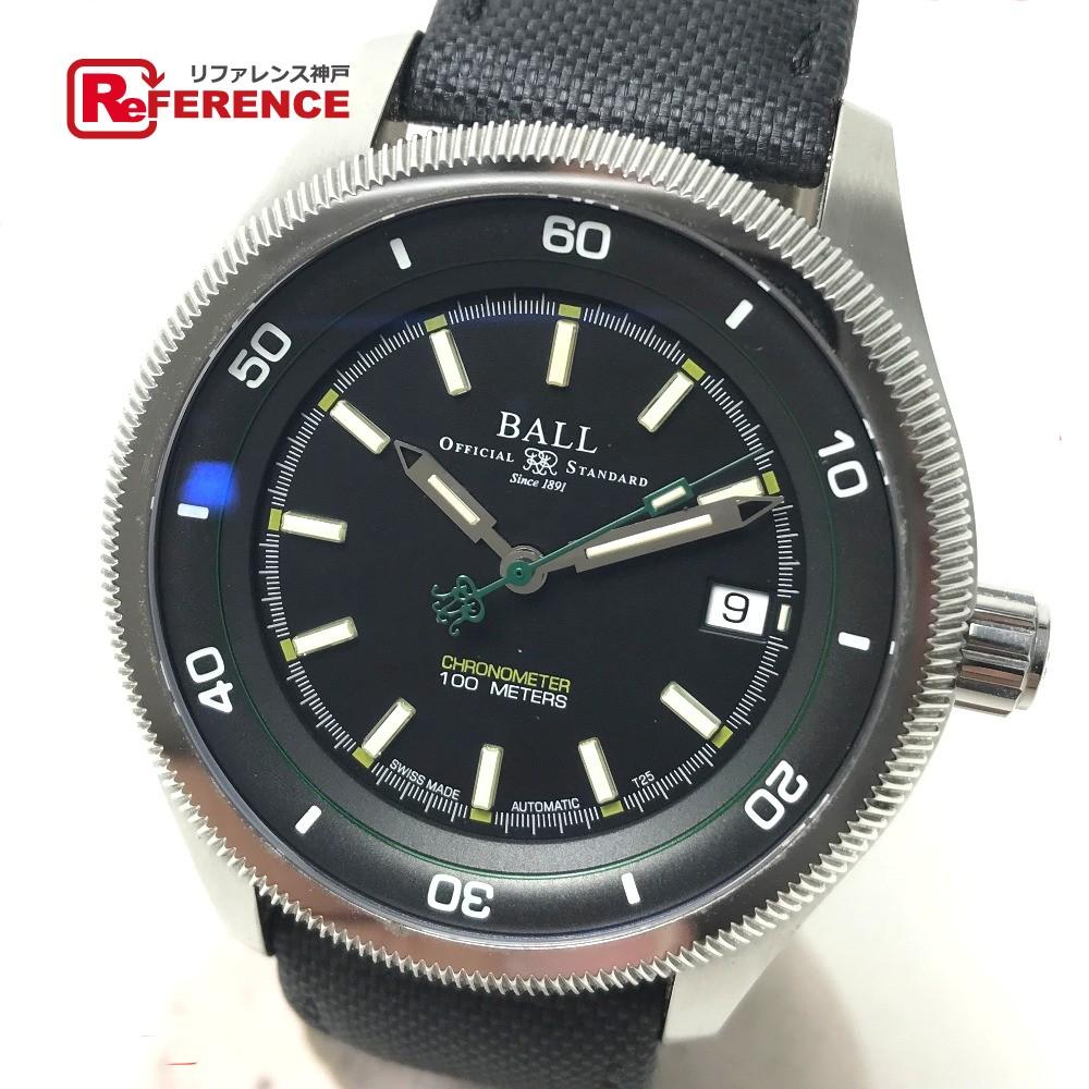 BALLWATCH ボールウォッチ NM3022C メンズ腕時計 マグニートー S エンジニア2 腕時計 SS/ファブリックバンド ブラック メンズ【中古】