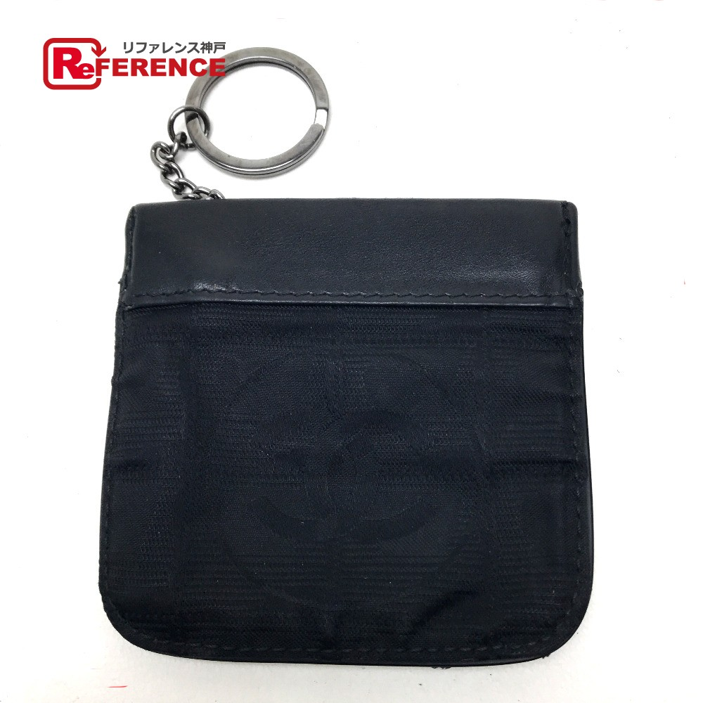 572e35972893a0 AUTHENTIC CHANEL New travel line CC Wallet Coin Compartment coin purse Black  Nylon/Leather