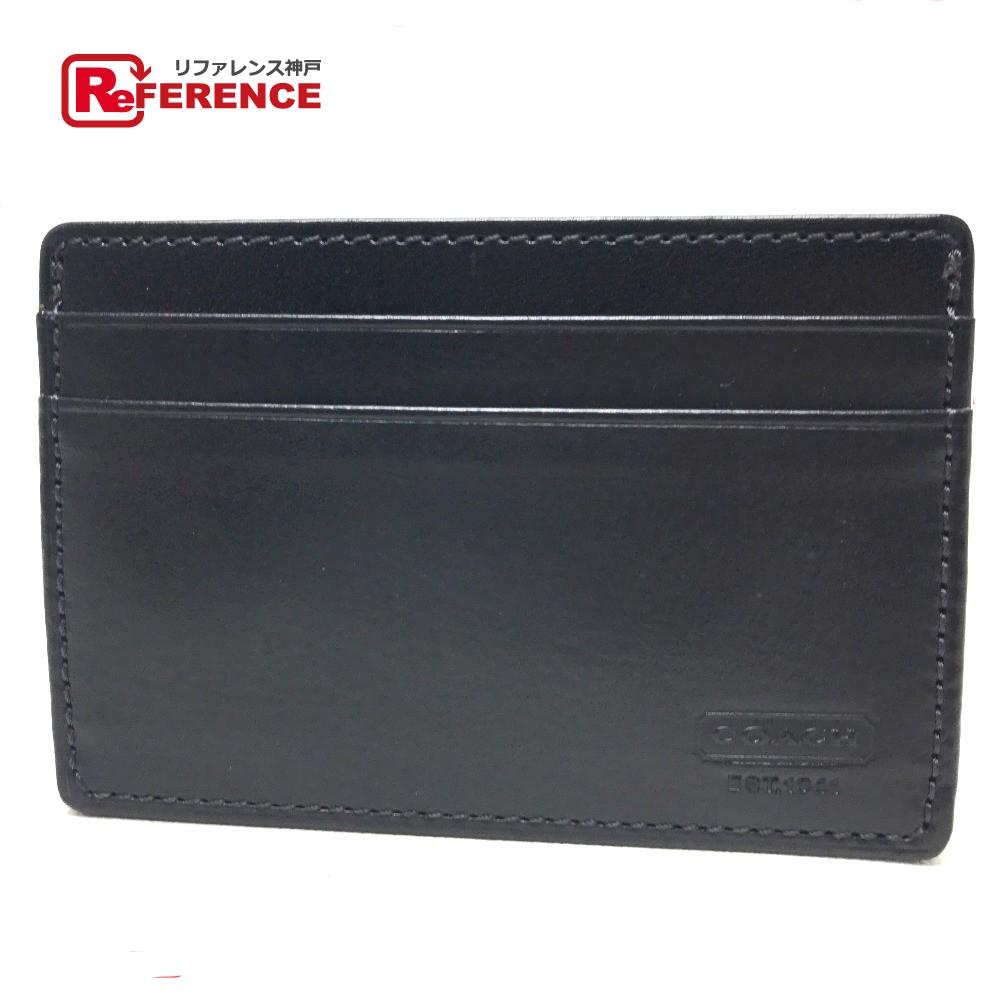 539be5acc6 AUTHENTIC COACH Men's Women's Pass Case Business Card Holder Card Case  Black Leather/