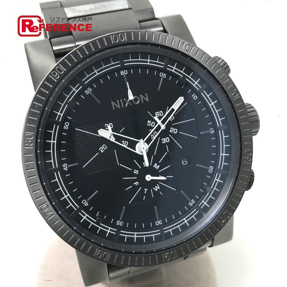 NIXON ニクソン NA154632 メンズ腕時計 マグナコン 腕時計 SS ブラック メンズ【中古】