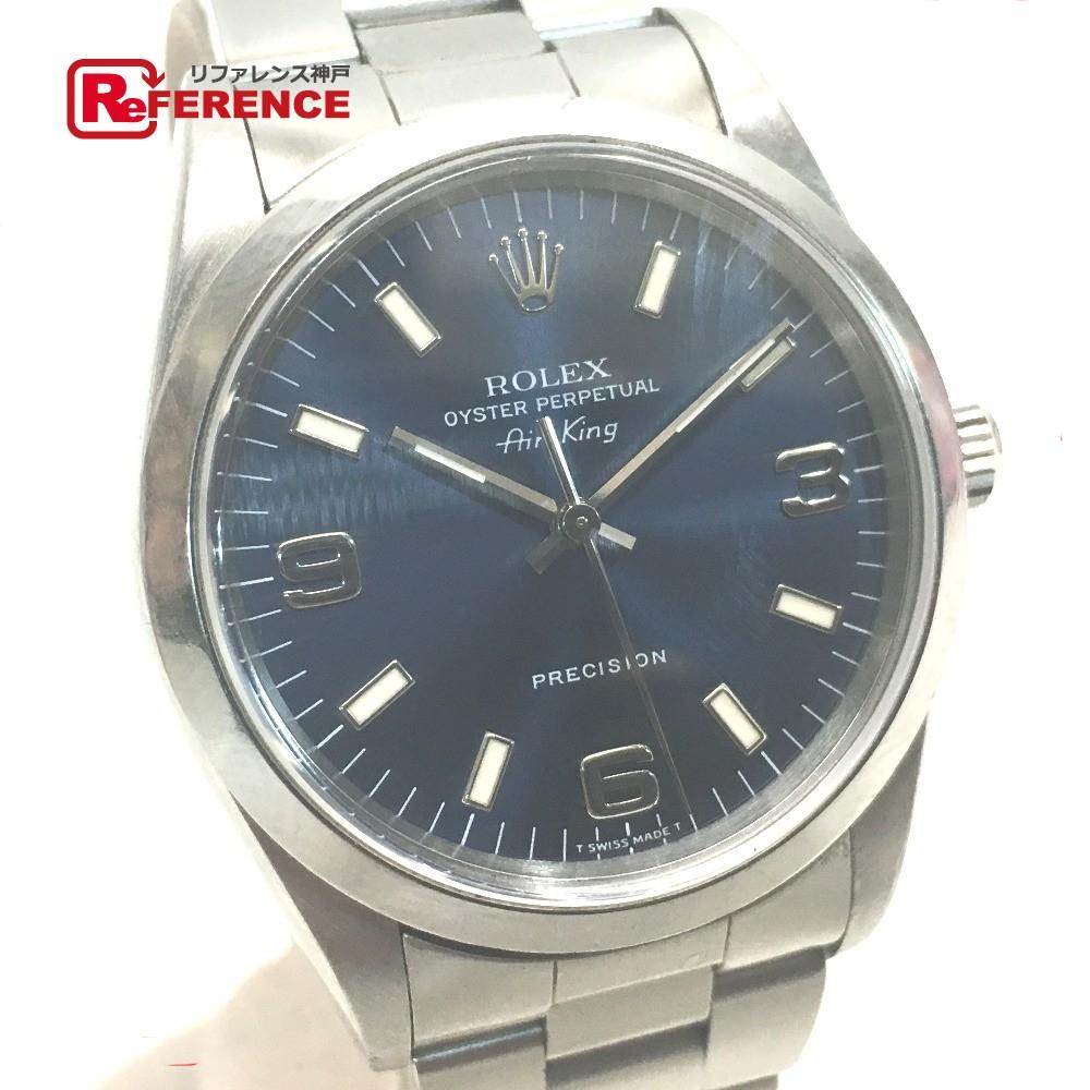 ROLEX ロレックス 14000 メンズ腕時計 エアキング Air King オイスターパペチュアル 腕時計 SS シルバー メンズ【中古】