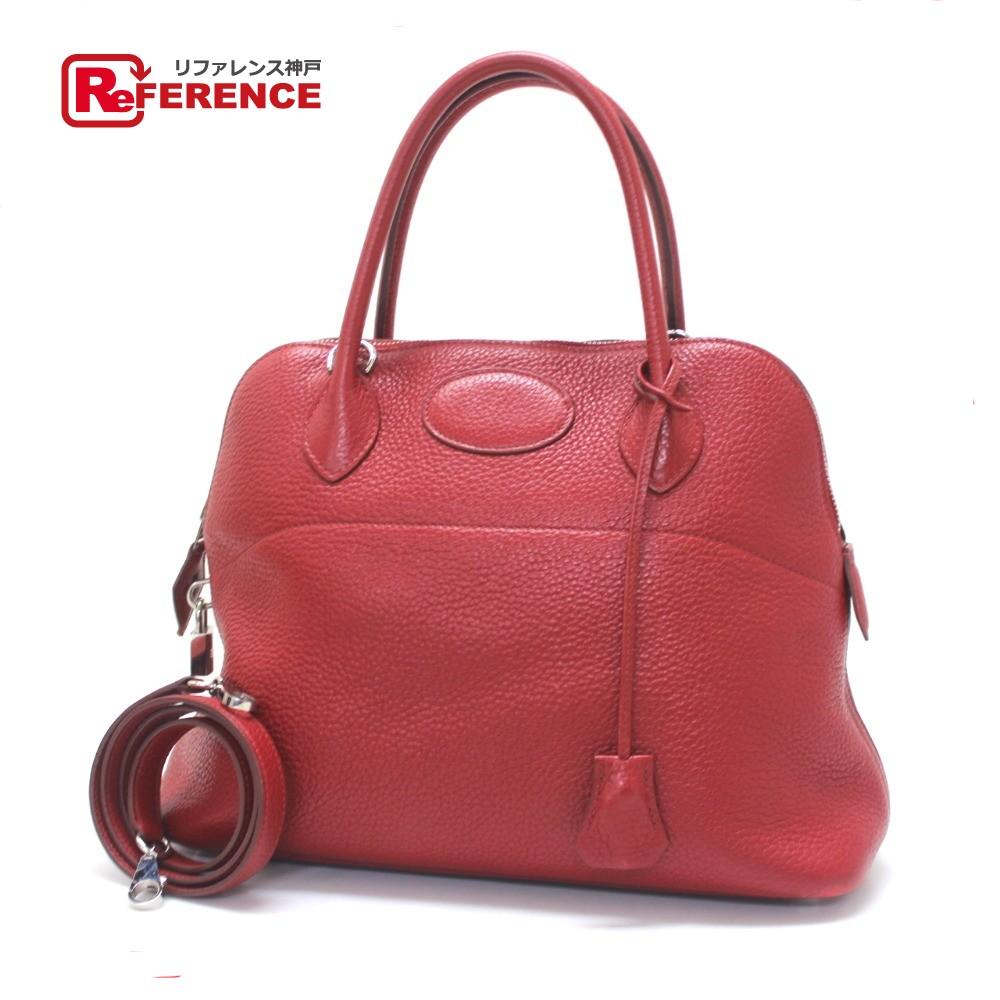 BRANDSHOP REFERENCE  AUTHENTIC HERMES Bolide 31 Hand Bag Hand Bag Rouge  Garance SilverHardware Taurillon Clemence  8531403113