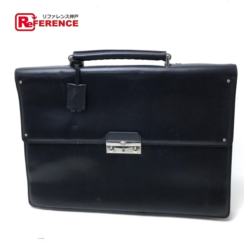 VERSACE Versace tote bag briefcase Medusa business bag leather   black men e97c3785efedc