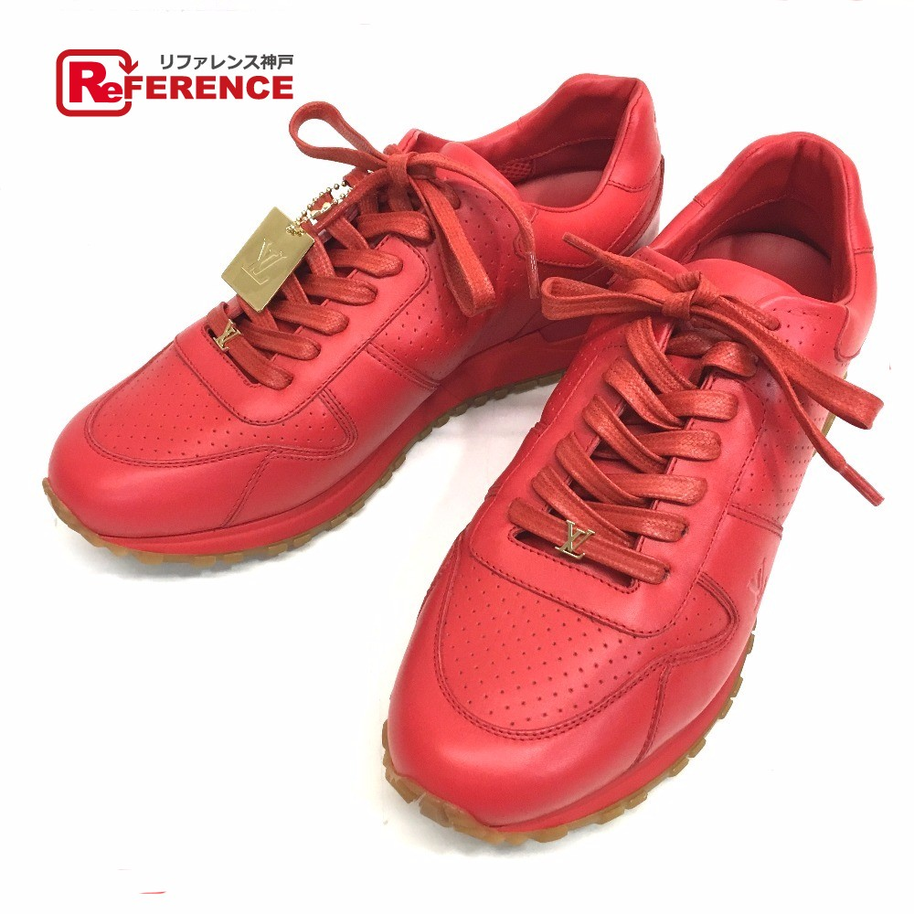 bf311d0921b3 AUTHENTIC LOUIS VUITTON Louis Vuitton x Supreme Runaway Men s shoes shoes  17 AW Louis Vuitton Supreme RUN AWAY SNEAKER sneakers Red Leather 1A3FC6