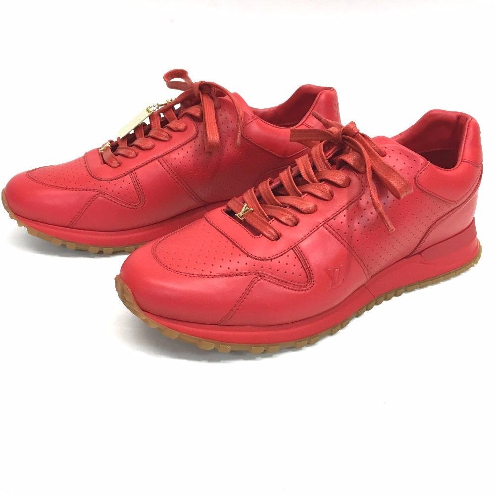 104e311eddd7 AUTHENTIC LOUIS VUITTON Louis Vuitton x Supreme Runaway Men s shoes shoes  17 AW Louis Vuitton Supreme RUN AWAY SNEAKER sneakers Red Leather 1A3FC6