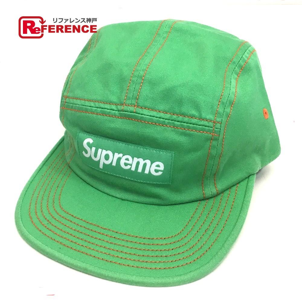 Supreme シュプリーム キャンプキャップ Contrast Stitch Camp Cap 帽子 グリーン メンズ 未使用【中古】
