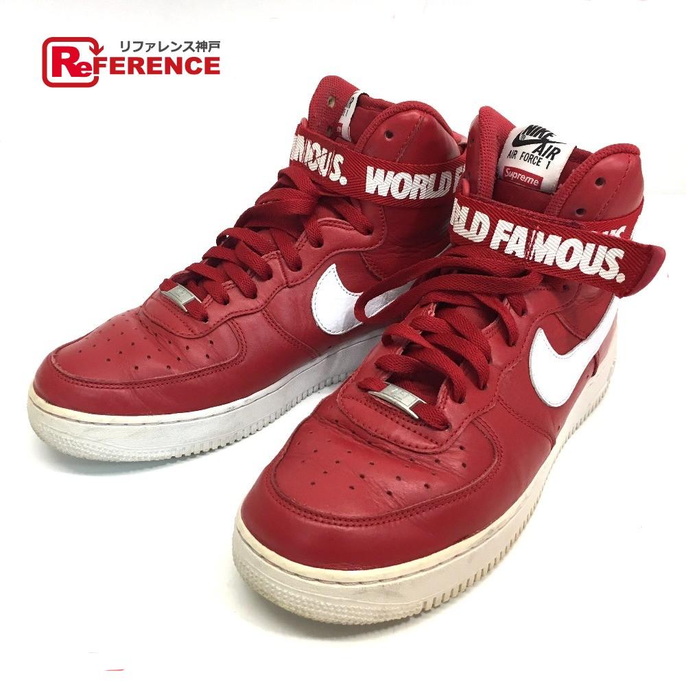 b3c0f1e3f5 AUTHENTIC Supreme Nike x Supreme Air Force 1 High-Cut Sneaker 2014 NIKE x  SUPREME AIR FORCE 1 HIGH SUPREME SP sneakers Red