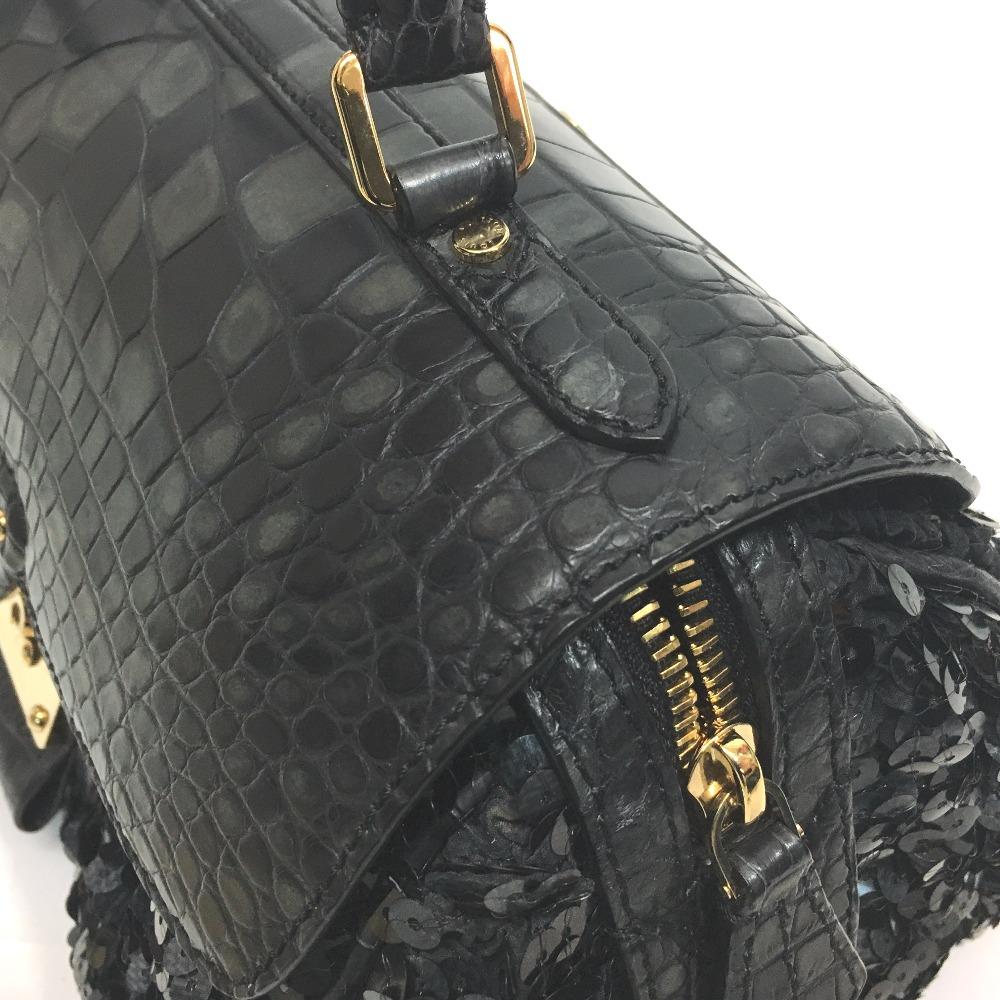 AUTHENTIC LOUIS VUITTON Carrousel Speedy Limited Collection Hand Bag Black  Crocodile Sequins N90929 fac4d7b190bbe