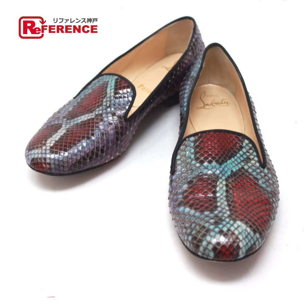 release date 47452 1efbc AUTHENTIC Christian Louboutin Python Flat shoes loafers Shoes Other Python 5