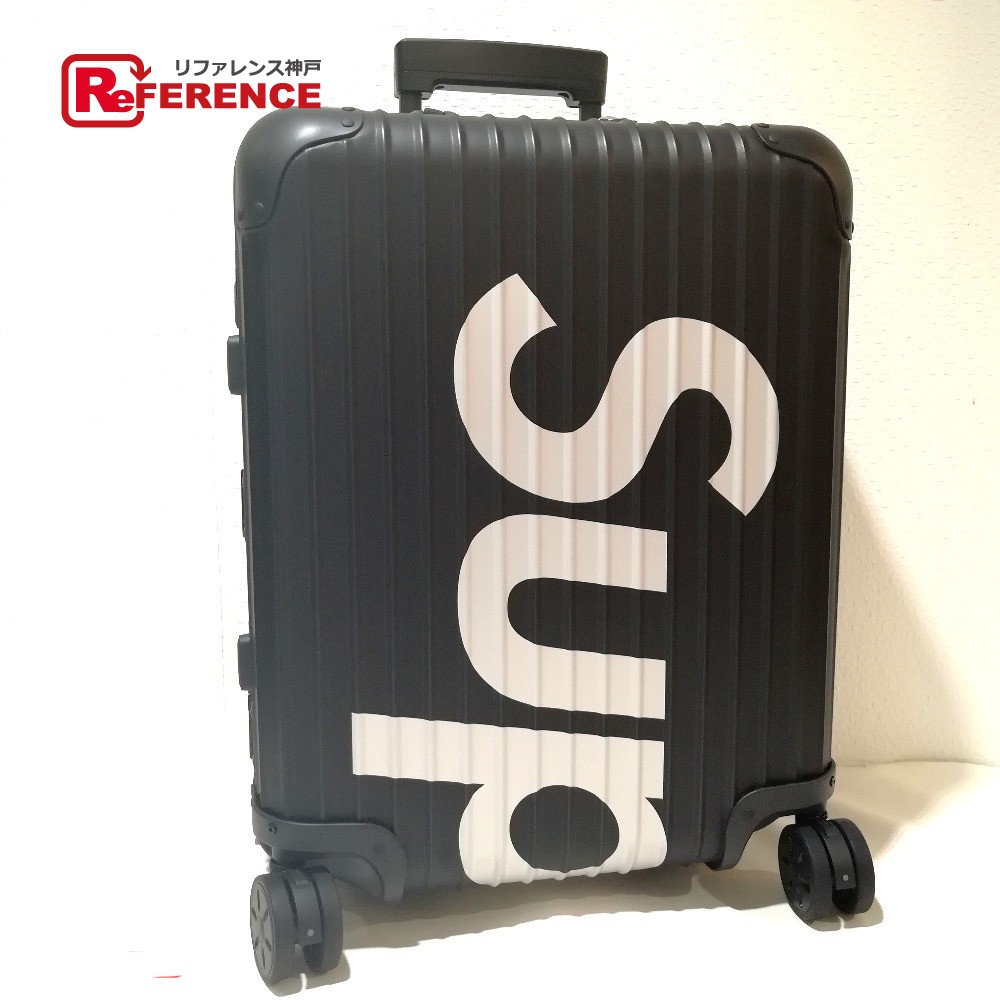 RIMOWA リモワ トラベルバッグ 45L キャリーケース Supreme/RIMOWA Topas Multiwheel 45L black シュプリーム×リモワ キャリーバッグ ブラック ユニセックス 未使用【中古】