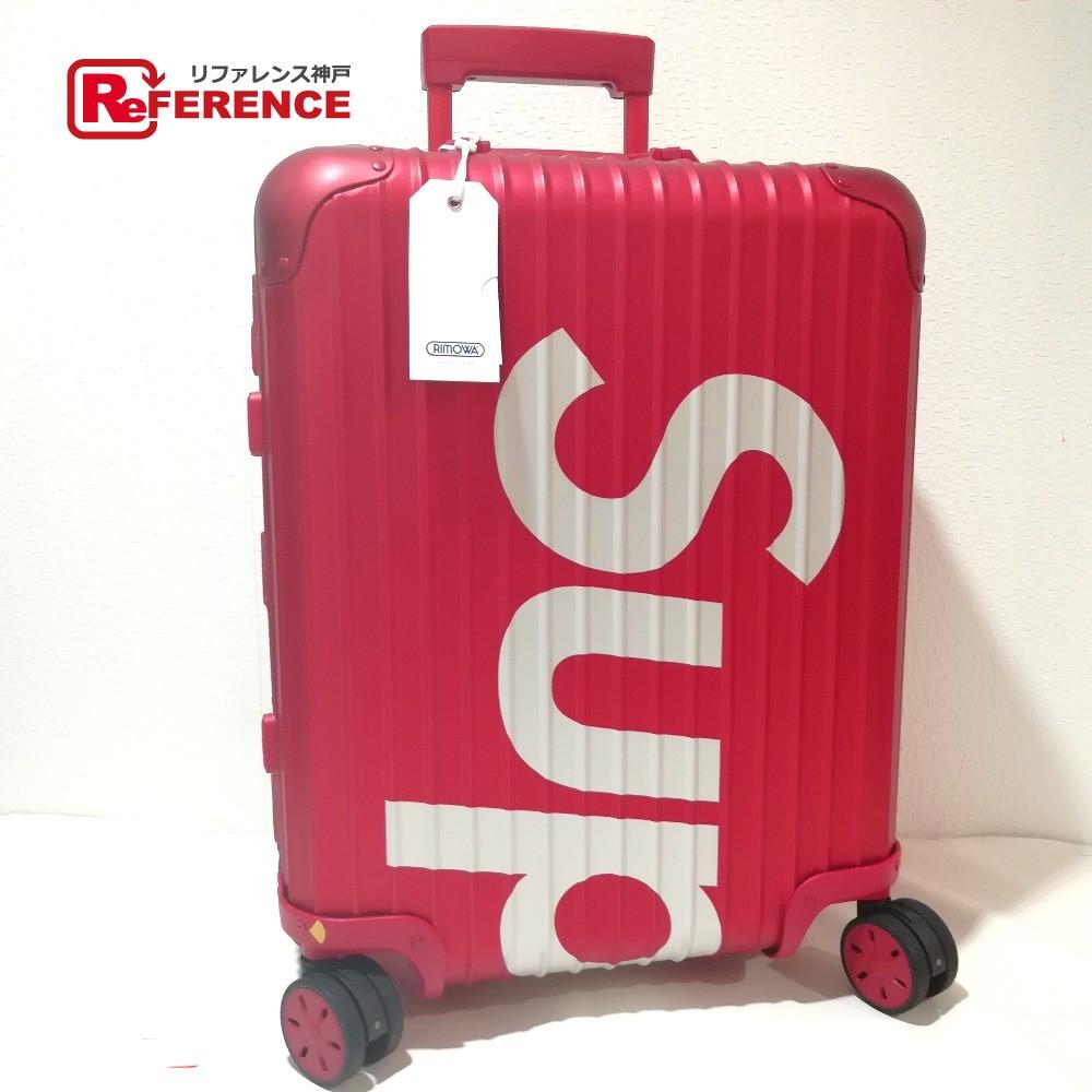 cb7b30fd2 AUTHENTIC RIMOWA Unused Supreme x Rimowa Collaboration Supreme / RIMOWA  Topas Multiwheel 45L black Travel Bag ...