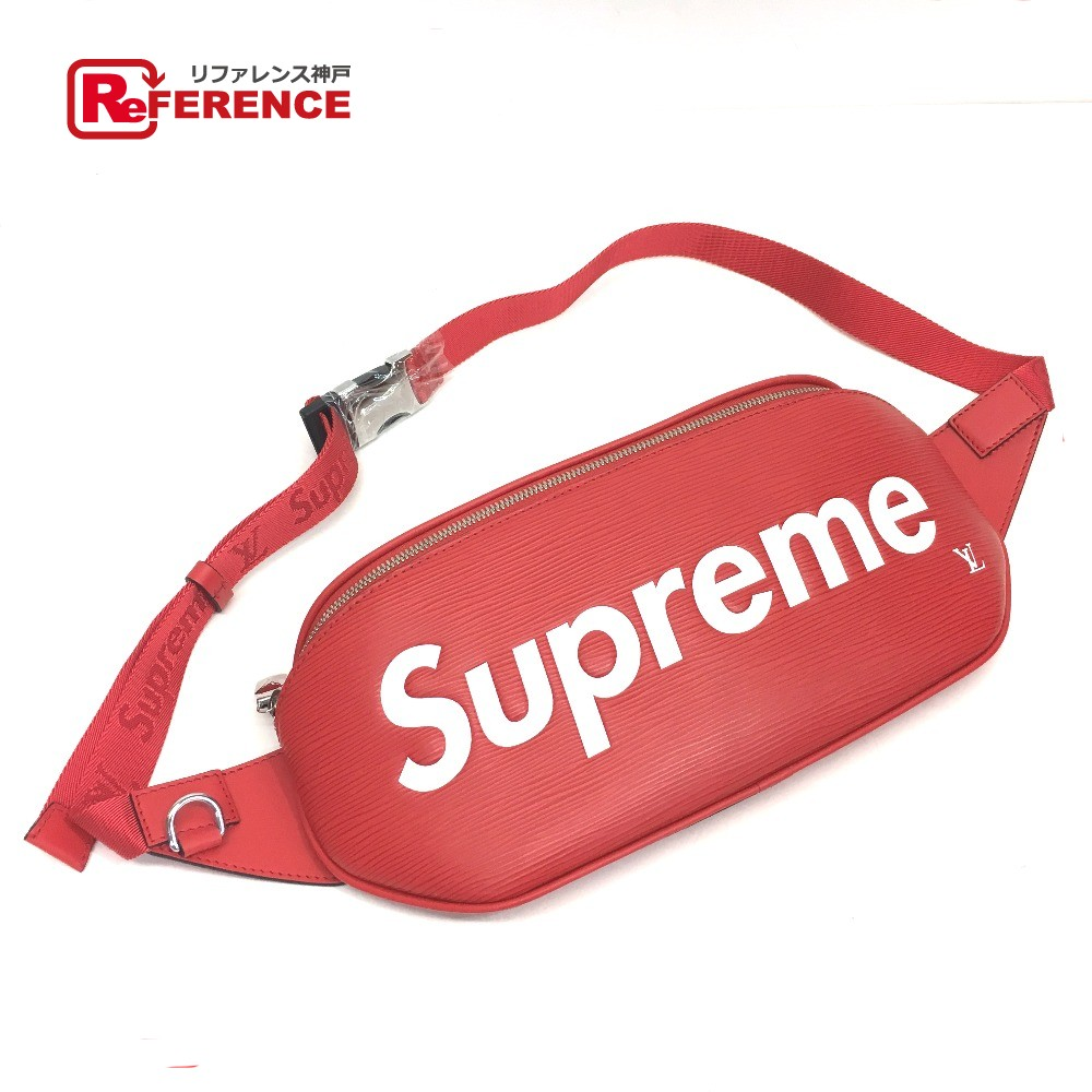 de2df6bf4 AUTHENTIC LOUIS VUITTON Louis Vuitton x Supreme 17 AW Supreme Louis Vuitton  EPI body bag Red ...