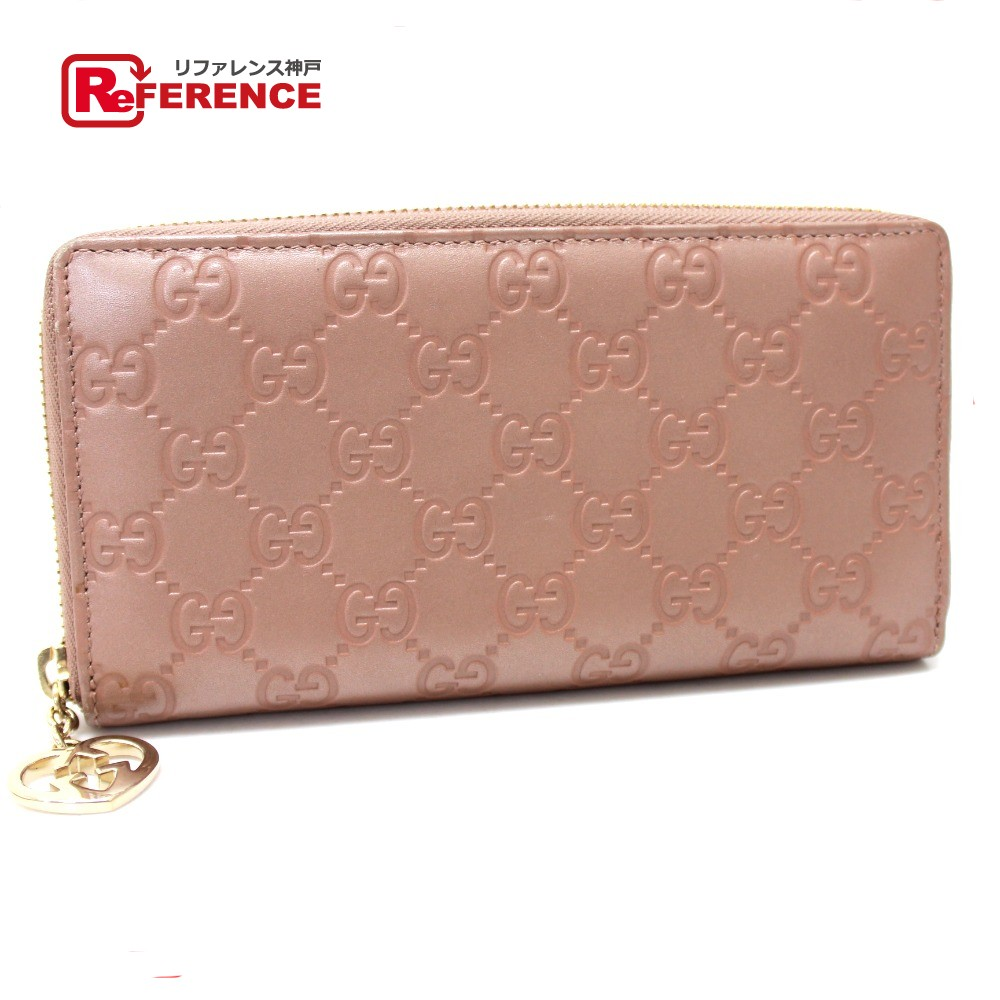 a94f7ba7c51c BRANDSHOP REFERENCE: AUTHENTIC GUCCI LOVELY Lovely Guccissima Zip Around  Long Wallet (with Coin Compartment) pink Leather 282477 | Rakuten Global  Market