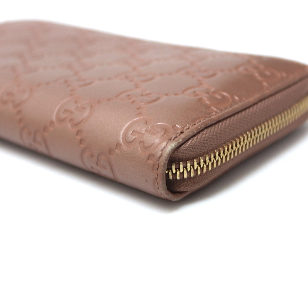 dee14cac5ddd AUTHENTIC GUCCI LOVELY Lovely Guccissima Zip Around Long Wallet (with Coin  Compartment) pink Leather 282477