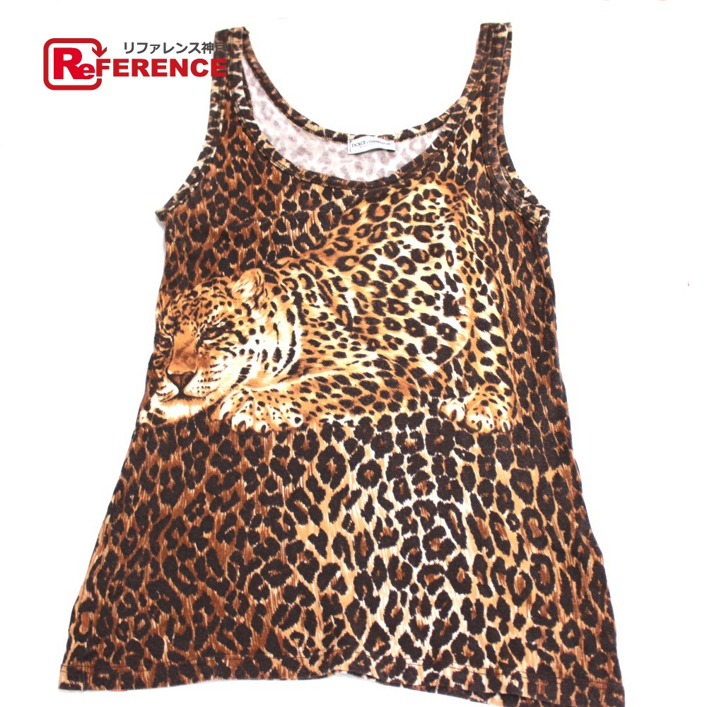 159a2f3fcfe BRANDSHOP REFERENCE  AUTHENTIC DOLCE GABBANA Leopard leopard pattern Cut  and sewn Tank top Brown