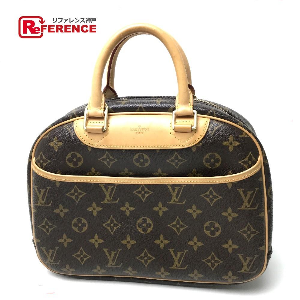 Authentic Louis Vuitton Monogram Trouville Women S Bag Hand Brown Monogramcanvas M42228