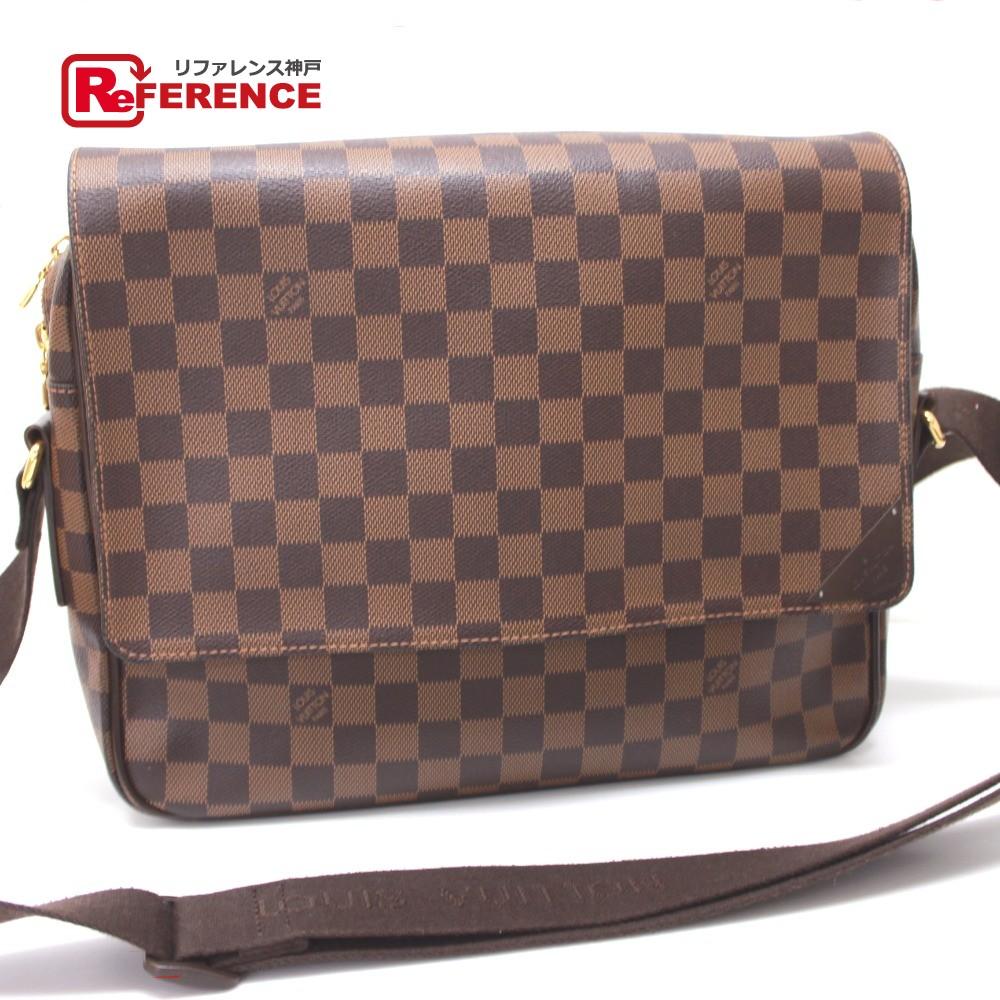 Authentic Louis Vuitton Damier Shelton Mm Messenger Bag Men S Women Shoulder Ebene N41149