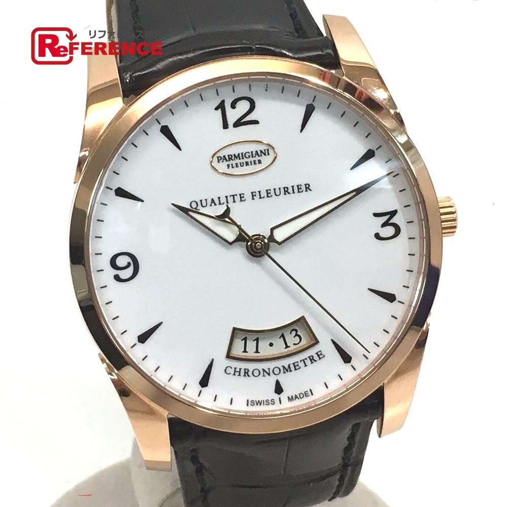 PARMIGIANI FLEURIER パルミジャーニ・フルリエ メンズ レディース 39QF トンダ 腕時計 K18PG/クロコ革ベルト ピンクゴールド ユニセックス 新品同様【中古】