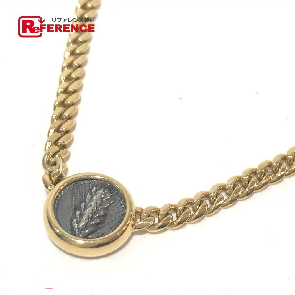 BVLGARI ブルガリ メンズ レディース モネーテ 古代コイン 2面チェーン 喜平 ネックレス ネックレス K18YG イエローゴールド【中古】