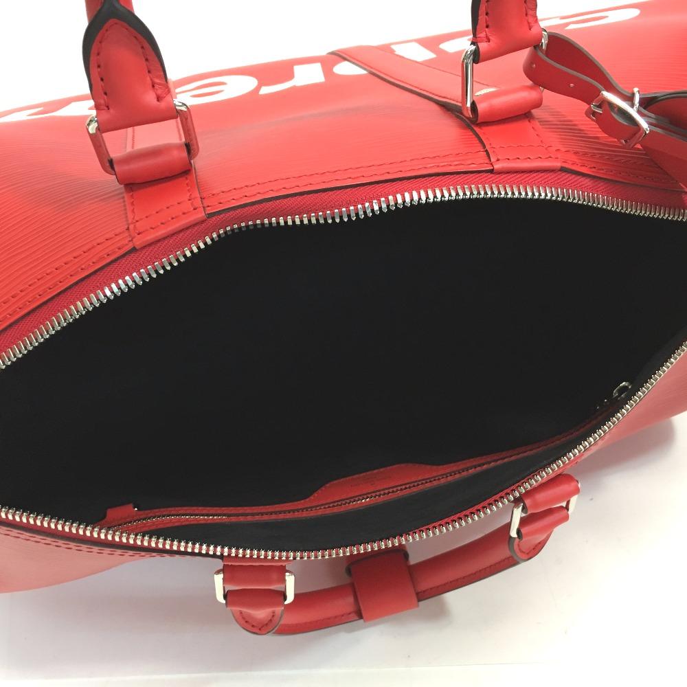 AUTHENTIC LOUIS VUITTON Louis Vuitton x Supreme Keepall - Bandouliere 45  Duffle Bag 17aw Supreme Louis Vuitton KEEP.45 BA.SP EPI DWT R Duffle Bag  Red Epi ... 434112b3be96f