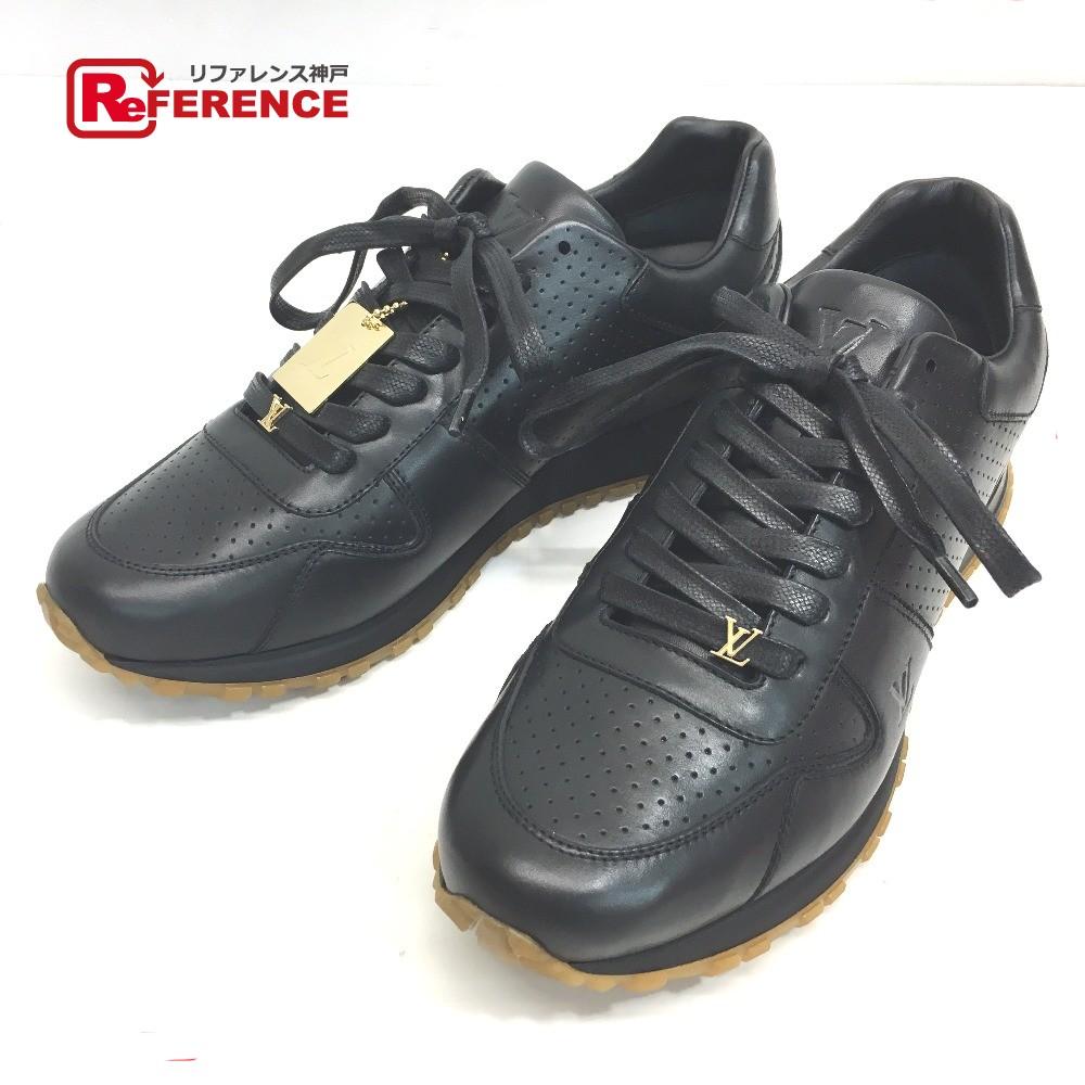 600d49b44e0 AUTHENTIC LOUIS VUITTON Louis Vuitton x Supreme Runaway Men's shoes 17 AW  Supreme Louis Vuitton RUN AWAY SNEAKER sneakers Black Leather 1A3EP7