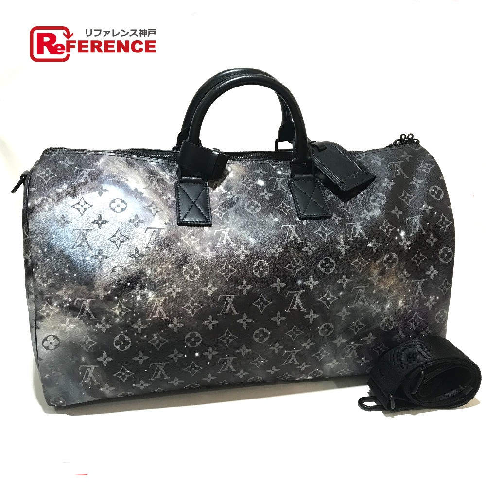 AUTHENTIC LOUIS VUITTON Monogram - Galaxy Keepall - Bandouliere 50 with  Strap Duffle Bag Monogram Galaxy Canvas M44166 e9c463d73d9ca
