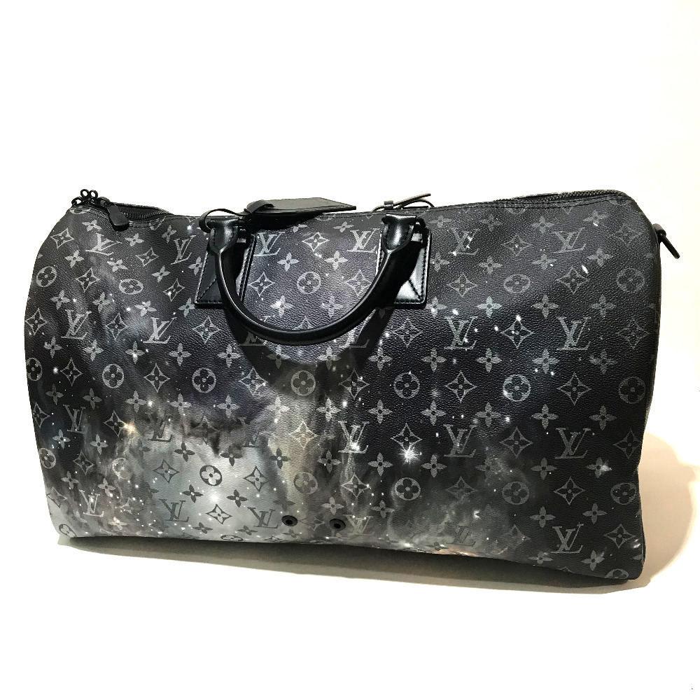 AUTHENTIC LOUIS VUITTON Monogram - Galaxy Keepall - Bandouliere 50 with Strap  Duffle Bag Monogram Galaxy Canvas M44166 ee13ad228a1ba