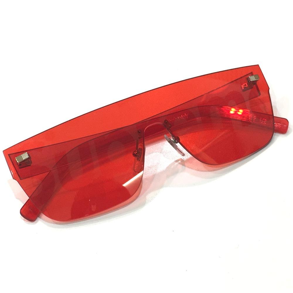 6014d3150404 AUTHENTIC LOUIS VUITTON Men s Women s Louis Vuitton x Supreme 17aw Supreme Louis  Vuitton City Mask SP Sunglasses sunglasses Red Plastic Z0985U