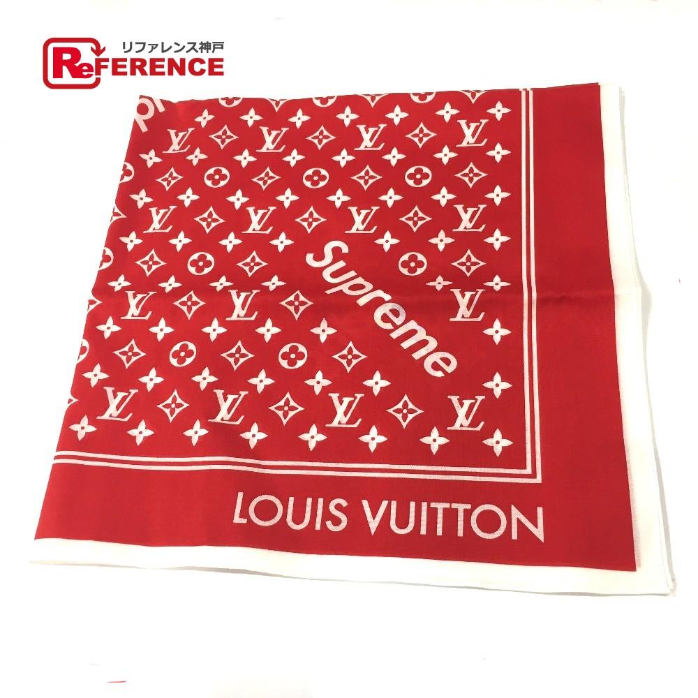 LOUIS VUITTON ルイ・ヴィトン MP1888 17aw Supreme Louis Vuitton Monogram ルイヴィトン×シュプリーム モノグラム メンズ レディース バンダナ レッド ユニセックス【新品】