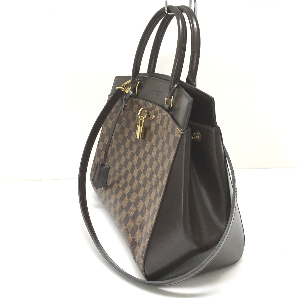 a51765da8b5 ... AUTHENTIC LOUIS VUITTON Damier Rivoli MM 2 WAY Shoulder Bag Hand Bag  DamierCanvas N41150 ...