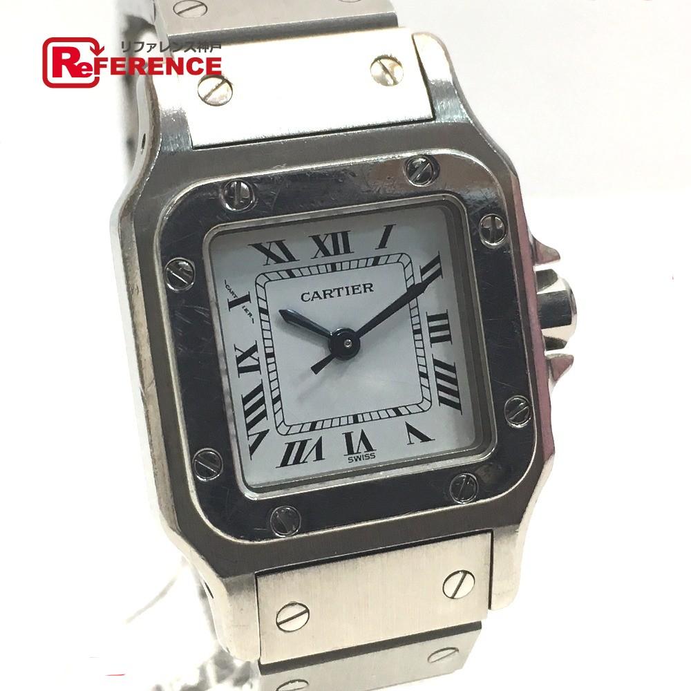 CARTIER カルティエ レディース腕時計 サントスガルべSM 腕時計 SS シルバー レディース【中古】