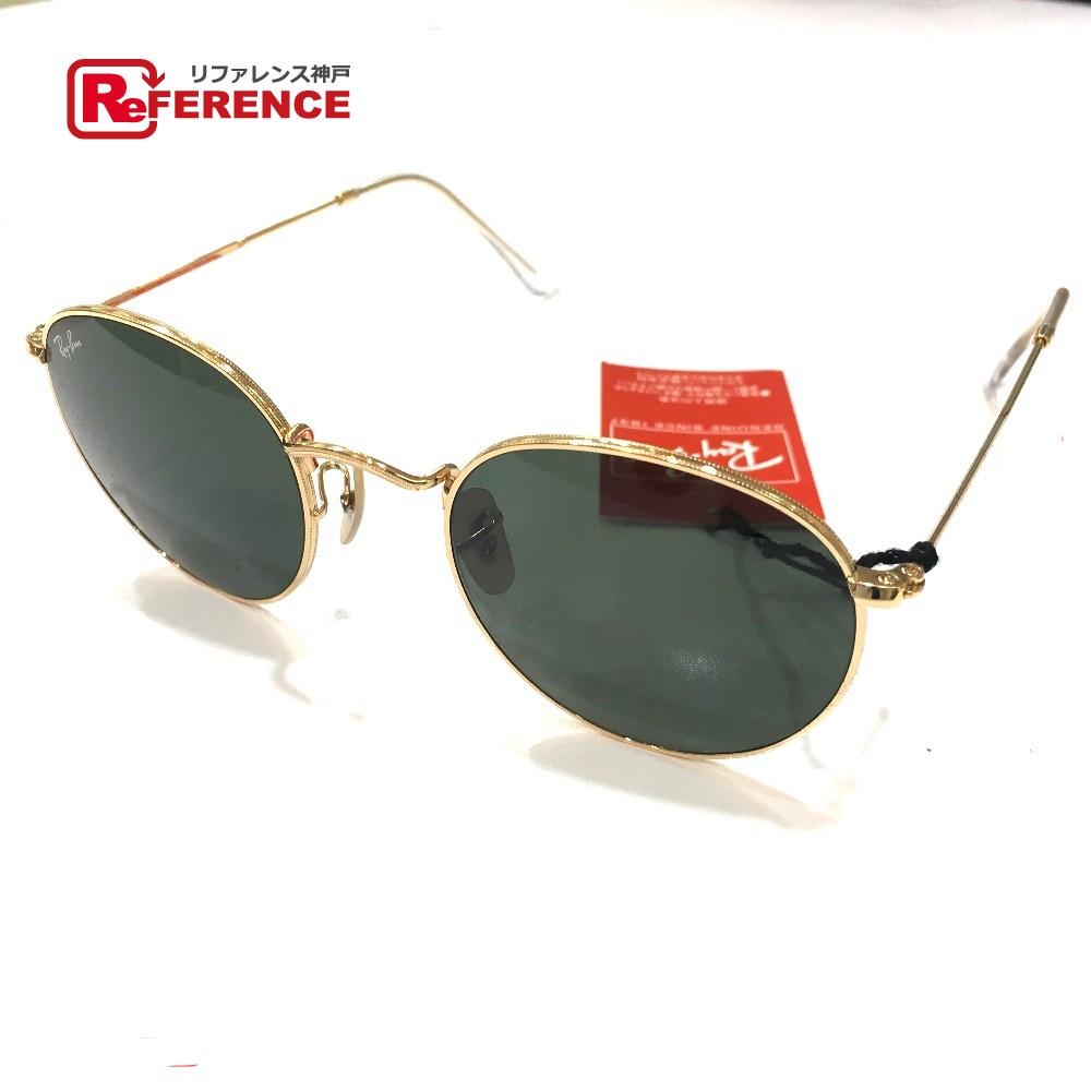 Ray-Ban レイバン RB3447 メンズ レディース サングラス ガラス/メッキ ブラック ユニセックス 未使用【中古】