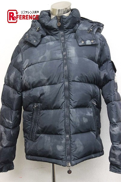 3f532e9b0 AUTHENTIC MONCLER camouflage MAYA (Maya) Hooded Down jacket Gray Based