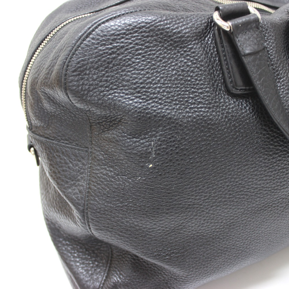 91a6dcc496a6 ... AUTHENTIC GUCCI Carry On Duffle Travel Bag Hand Bag Duffle Bag Black  Leather/ 322055 ...