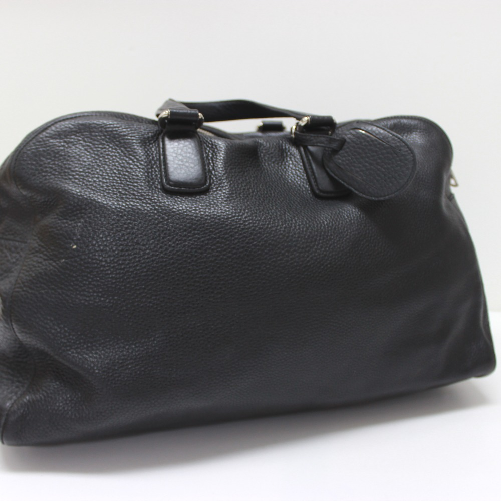 359eabd04152b AUTHENTIC GUCCI Carry On Duffle Travel Bag Hand Bag Duffle Bag Black Leather   322055