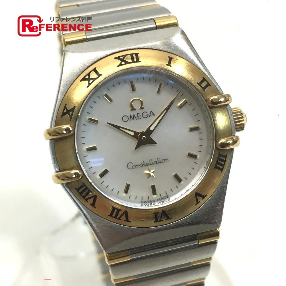 OMEGA オメガ 1362.70 レディース腕時計 コンステレーション ミニ コンビ 腕時計 SS/YG シルバー×ゴールド レディース【中古】