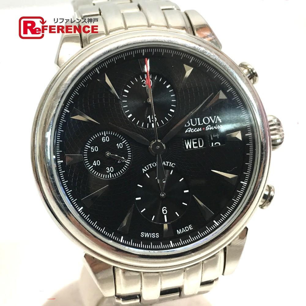 BULOVA ブローバ メンズ腕時計 自動巻き クロノグラフ 腕時計 SS/ シルバー メンズ【中古】