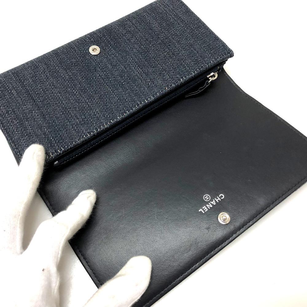 30eb0ad00497 長財布(小銭入れあり) ドーヴィル 2つ折り長財布 A80053 シャネル ...