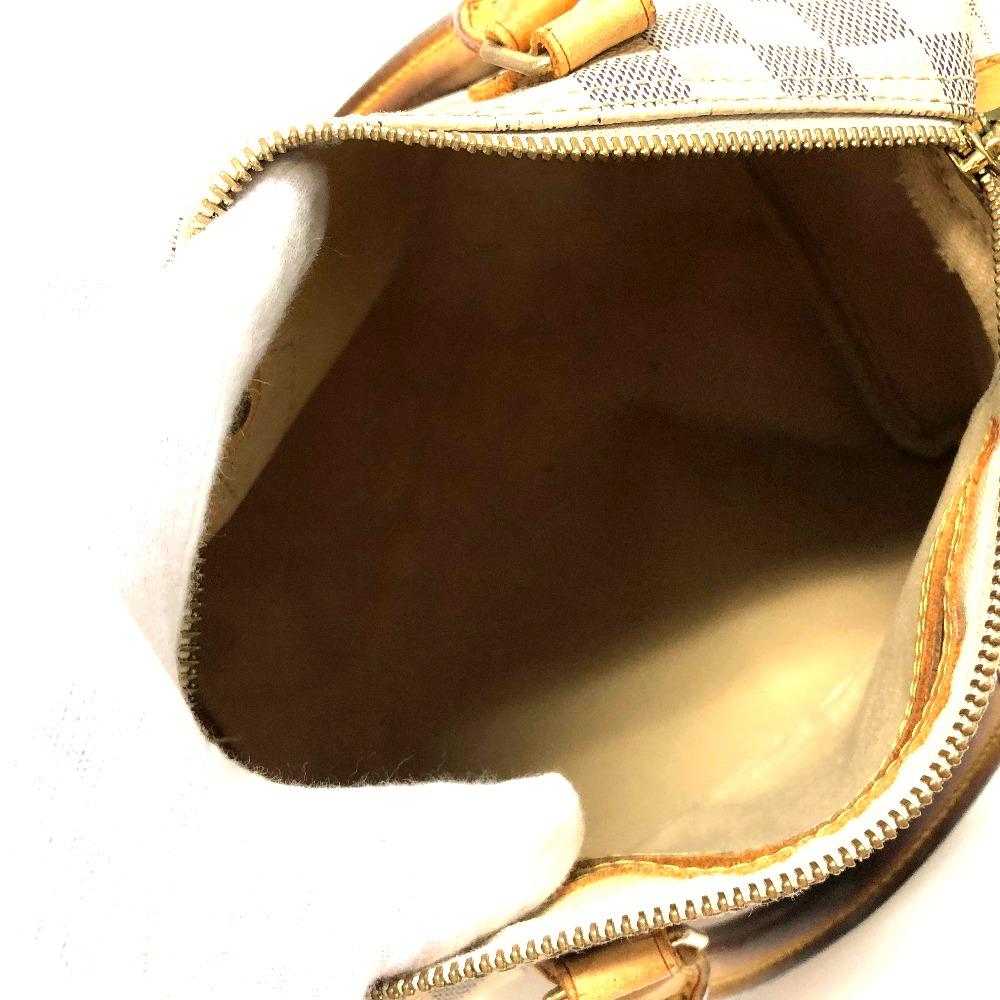e18c2eb83111 AUTHENTIC LOUIS VUITTON Damier Azur Speedy 25 Hand Bag Mini Duffle Bag  Duffle Bag White DamierAzurCanvas N41534