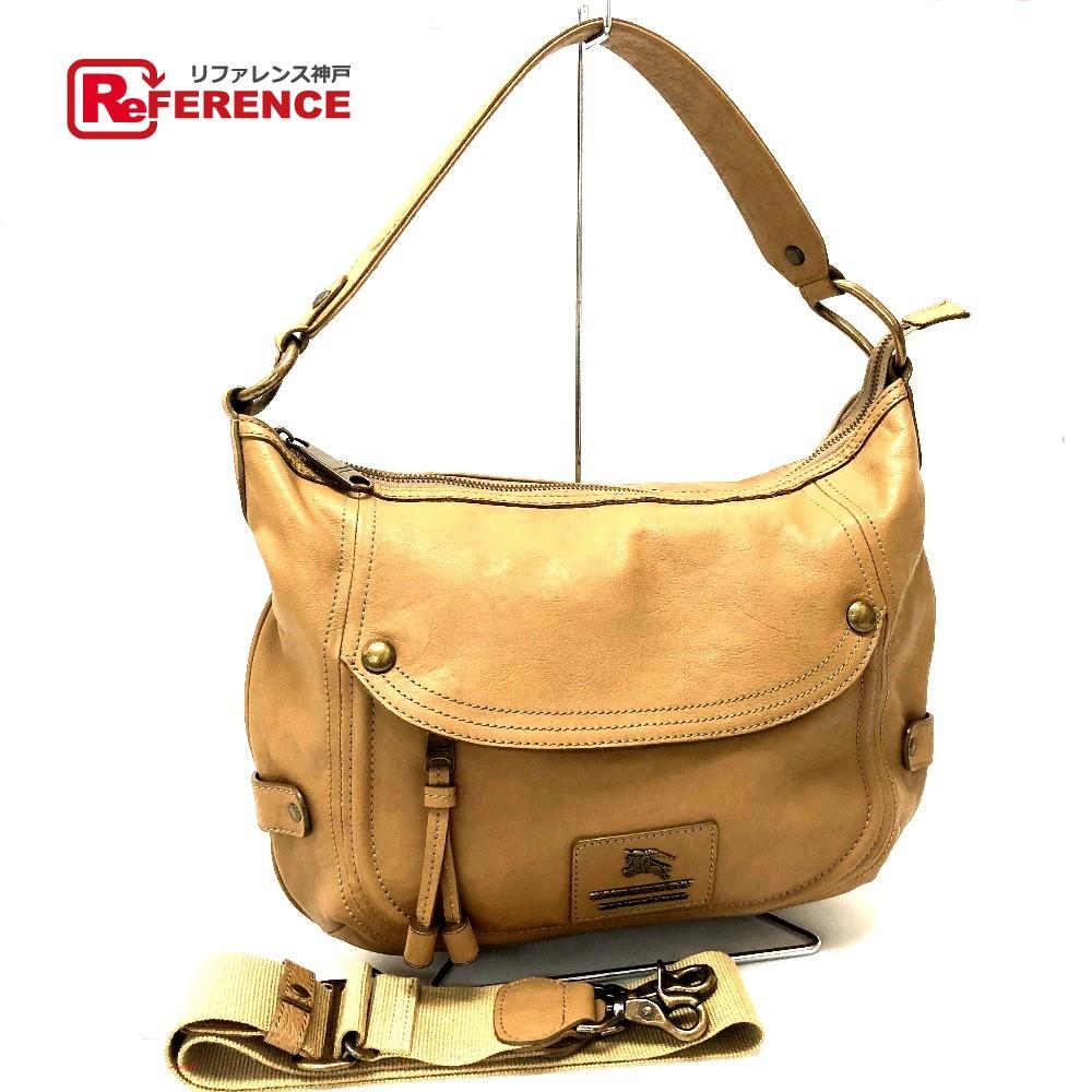 638663117a68 BRANDSHOP REFERENCE  AUTHENTIC BURBERRY BLUE LABEL Shoulder Bag Hand Bag  2way bag Brown Leather