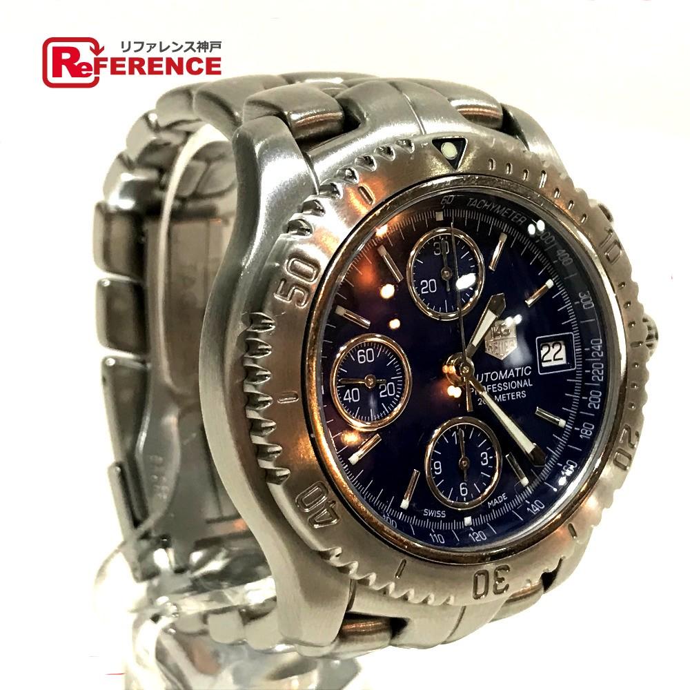 TAG HEUER タグホイヤー CT2110 メンズ腕時計 リンク クロノグラフ 腕時計 SS シルバー メンズ【中古】
