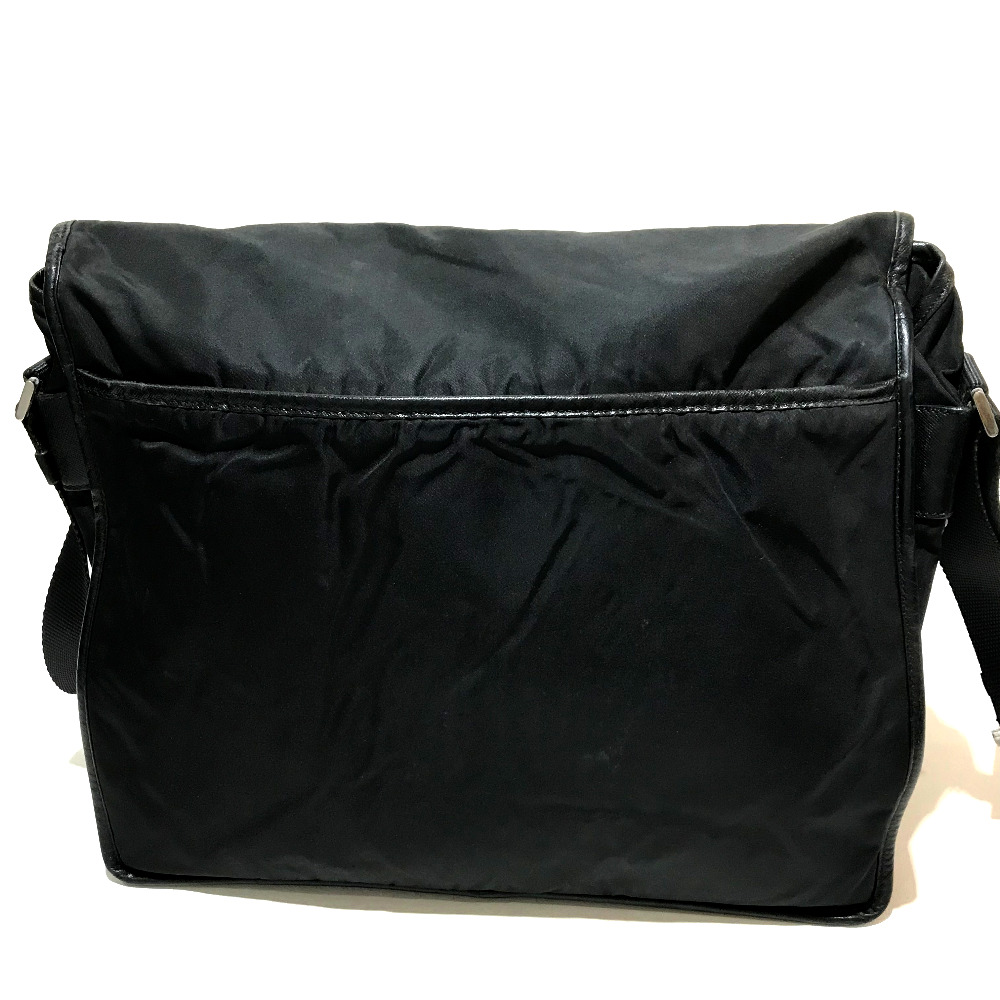 02a883122ce8 ... wholesale authentic prada crossbody logo plate messenger bag shoulder  bag black nylon x leather v158 bf95b