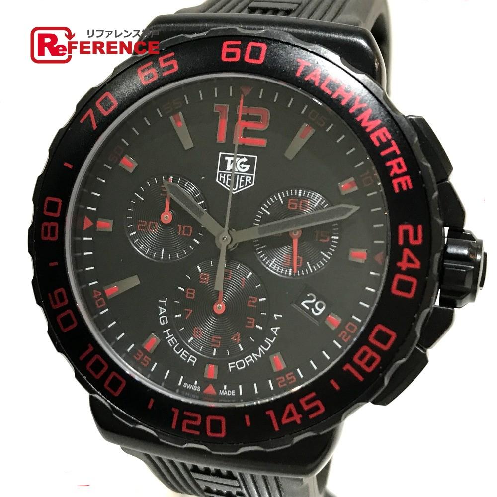 TAG HEUER タグホイヤー CAU111D メンズ腕時計 フォーミュラ1 クロノグラフ 腕時計 SS/ラバーベルト ブラック メンズ【中古】