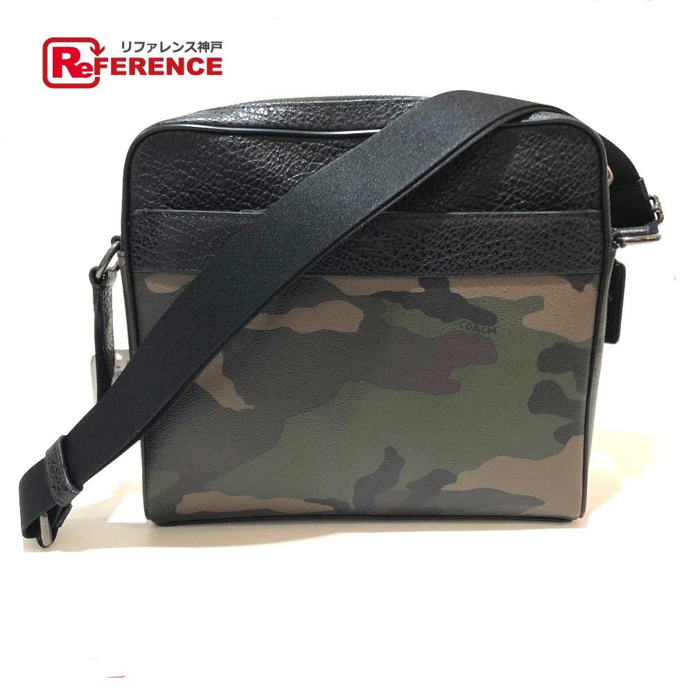 99ec1318fd27 COACH coach F29052 shoulder bag logo charm camouflage camouflage shoulder  bag PVC X leather brown men mint condition